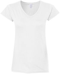 Gildan Ladies' Fitted Softstyle 4.5 oz V-Neck T-Shirt