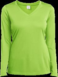 Sport-Tek Ladies' LS Performance V-Neck T-Shirt