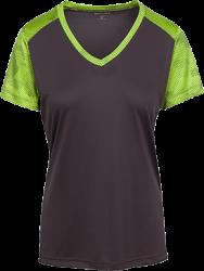 Sport-Tek Ladies' CamoHex Colorblock T-Shirt