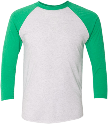 Next Level Mens Tri-Blend 3/4 Sleeve Baseball Raglan T-Shirt