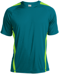 Sport-Tek Mens Colorblock Dry Zone Crew